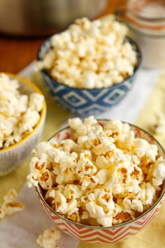 Homemade Popcorn -- two tricks for making the BEST homemade popcorn ever on your stovetop at home! I'm talking better than movie theater popcorn, perfect for a family movie night...
