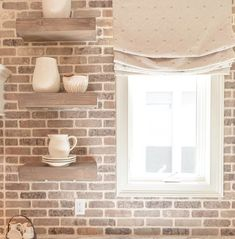 All of these neutrals work together to make this kitchen space the coziest room in the house 😌 Who's ready for Autumn baking? The brick used here is our Ironworks 📸: Kitchen Design, Kitchen Decor, Riverside House, Thin Brick, Cozy Room, Fall Baking, Kitchen Sets, Valance Curtains, Kitchen Remodel