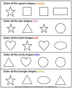 color the shape turtlediarycom printable worksheets - Learning Colors Worksheets For Preschoolers
