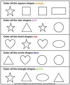 Color the shape - TurtleDiary.com