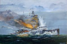 Last moments of HMS Prince of Wales.The sinking of Prince of Wales and Repulse… Hms Prince Of Wales, Model Warships, Imperial Japanese Navy, 10 December, Navy Ships, Aviation Art, Royal Navy, Military Art, Battleship