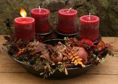 Adventsringe   Töpferei Tecklenburg Autumn Home, Pillar Candles, Christmas Time, Beef, House Styles, Big Wheel, Tea Lights, Home Decor, Makeup