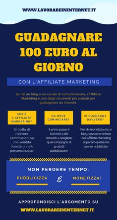 Affiliate Marketing: Come Guadagnare 100 Euro Al Giorno