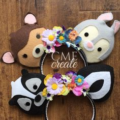 Spring time with furry friends  #bambiears #thumperears #flowersear #floralears #customears