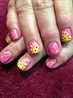 Summer sun nail art by Debbrew