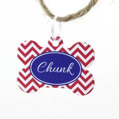 Personalised Pet Name Tag Bone Chevron from notonthehighstreet.com