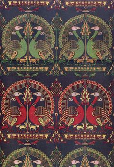 Spanish Islamic woven textile design, 14th century.