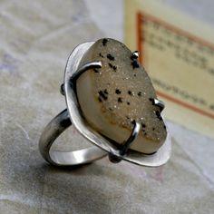 Druzy Ring by Kira Ferrer