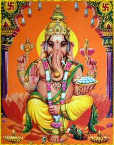 Maha Ganapathi Homam is dedicated to Lord Ganapathi to invoke his blessings in the fire ritual. Shiva Art, Hindu Art, Pictures Images, Hd Images, Shree Ganesh, Great King, Lord Ganesha, Amai, Indian Gods