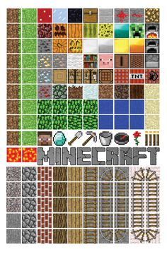 Free printable minecraft magnet set