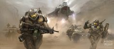 Spartan Assault #ConceptArt from #HaloReach