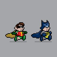 Miniature, 8-Bit Icons of Superheroes -  Jesus Castañeda