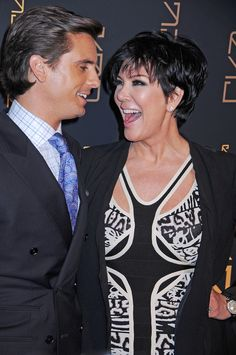 Short Hairstyles Lookbook: Kris Jenner wearing Layered Razor Cut (4 of 9). Kris Jenner arrived at the opening of Scott Disick's RYU restaurant in NYC wearing her choppy 'do stylishly tousled.