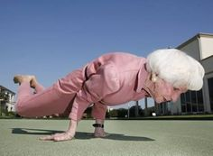 Yoga instructor Bette Calman may be 87, but she's still bending over backwards to spread the benefits of the ancient Indian discipline. The nimble grandmother can really pull some shapes, and with her set hair and pearl earrings she looks as glamorous as Greta Garbo in a pink jumpsuit. With 40 years of teaching under her belt, the Australian wonder is living proof that a lifetime's dedication to yoga will keep you as flexible as a rubber band.