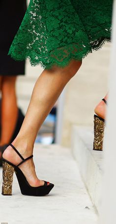 Green lace and Golde