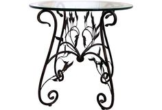 Decorative Wrought Iron Table Legs | Midcentury Wrought Iron Table