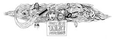 """""""1000 Drawings is creativity at its most generous. Part exhibition, part fundraiser, part something still evolving, this charity event brings together schoolchildren, homeless people, professional designers and artists, aspiring scribblers and art enthusiasts to share and value their collective voice.""""   1000Drawings - SA Tourism blog, illustration by Seth Beukes"""