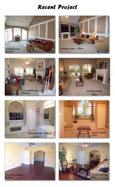 Homes that we staging using their furnishings and or rental furniture with our accessories.