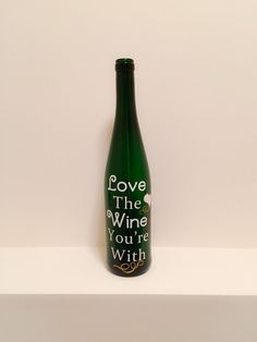 Love the Wine You're With by KrystlesCraftCloset on Etsy