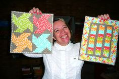 Mini Quilt Swap received from Andrea (Quiltedoma) | Flickr - Photo Sharing!