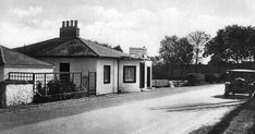 Old photograph of the Toll House in Gretna Green, Dumfries and Galloway , Scotland . John Murray was the first tollkeeper. The Toll House i...