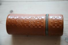 Vintage Soviet Leather Box  Leather Pencil Case by TwoRedSuitcases, $36.00