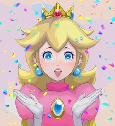 Princess Peach is surprised.