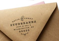 Custom Address Rubber Stamp - Classic No. 6