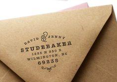 Custom Address Rubber Stamp - Classic No. 6
