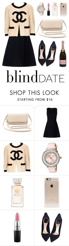 """Blind Date"" by nabilaclydea on Polyvore featuring Charlotte Russe, RED Valentino, Chanel, Ted Baker, Tory Burch, Incase, MAC Cosmetics, Christian Dior, women's clothing and women"