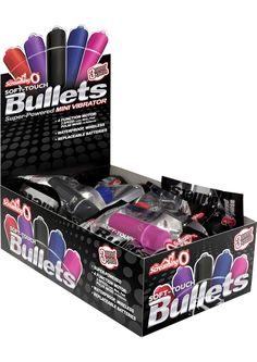 Buy Scream O Soft Touch Bullets 3+1 Speed Mini Vibrator 20 Each Per Display Assorted Colors online cheap. SALE! $183.99