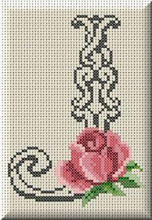 Monogram letter J cross stitch. Monogram Cross Stitch, Cross Stitch Alphabet Patterns, Cross Stitch Borders, Cross Stitch Flowers, Cross Stitch Charts, Cross Stitch Designs, Cross Stitching, Cross Stitch Embroidery, Hand Embroidery
