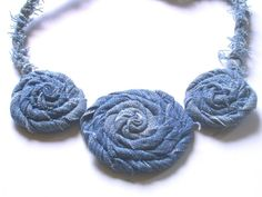NECKLACE Jeans, Upcycled. $25.00, via Etsy.