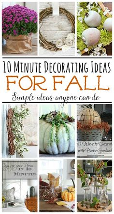 Quick and easy decor