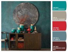 Quem Gosta De Vermelho Na DecoraçãO? aprendendo o que é aplicar uma paleta de cores... isso é muito profissional
