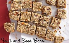 Fruit and Seed Bars on Weelicious
