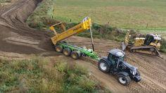 Zand dumperen met Joskin Trans-K 27/65 Tridem kippers in Belgische bouw ...