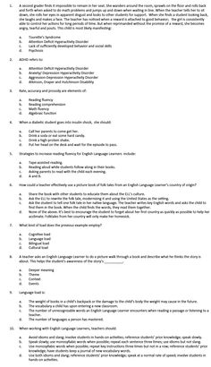 gace special education essay questions