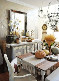 rustikale ambiente kreative herbstdeko ideen fürs esszimmer
