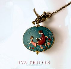 You and I. Handmade polymer clay pendant by ~EvaThissen on deviantART