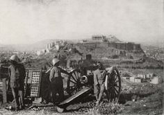 WWI, Dec 1916 - Noemvriana: Allies Occupy Athens, Battle in the Greek Capital between Allies and Royalists. A French artillery piece during the battle for Athens. The Acropolis is in the background. Grand Teton National Park, National Parks, Athens Greece, Wwi, Wyoming, Troops, World War, Greek, Europe