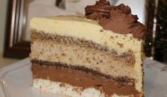 ŠARENA TORTA (I): Tanke kore, a dosta fila, tako da je jako, jako kremasta! Cheesecake Recipes, Cupcake Recipes, Baking Recipes, Dessert Recipes, Torte Recepti, Kolaci I Torte, Jednostavne Torte, Chocolate Whipped Cream Frosting, Cold Desserts