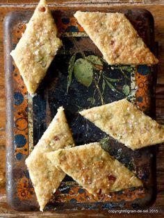 grain de sel - salzkorn: offene Fragen: Thymian-Shortbread mit Mandeln