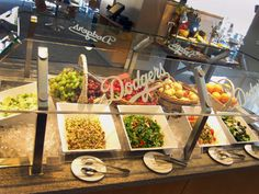 Salad Bar in the Stadium Club at #DodgerStadium