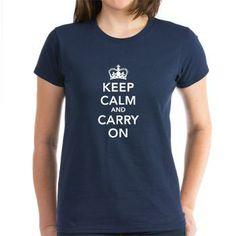 #Keepcalmandcarryon #ladies #TShirt from www.creamtees.net £18.00/$26.39 #retro #fashion