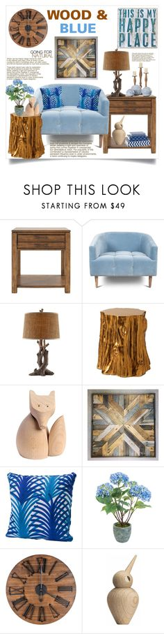 """""""Wood & Blue"""" by hastypudding ❤ liked on Polyvore featuring interior, interiors, interior design, home, home decor, interior decorating, WALL, Woody Zoody, Sia and ArchitectMade"""