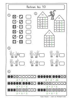 und nochmal Mengen erkennen und Zahlen schreiben | math GS ...