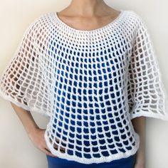Blusa circular em ponto rede