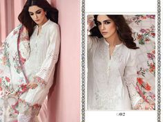 76d614ca55 Maria.B Eid Lawn 2017 Unstitched (D02) White Embd Home Delivery all Pakistan