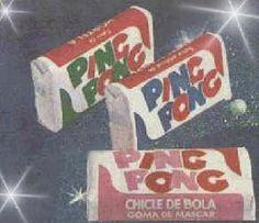 Os chicletes Ping Pong eram vendidos em três sabores: tutti fruti, hortelã e morango. Vinham com figurinhas e tatuagens